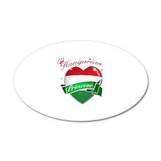Hungarian Princess 22x14 Oval Wall Peel