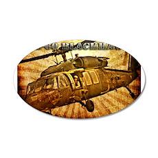 UH-60 Blackhawk 22x14 Oval Wall Peel