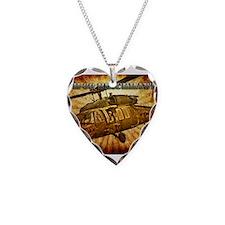 UH-60 Blackhawk Necklace Heart Charm