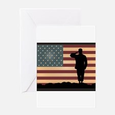Rocky Salute Greeting Card