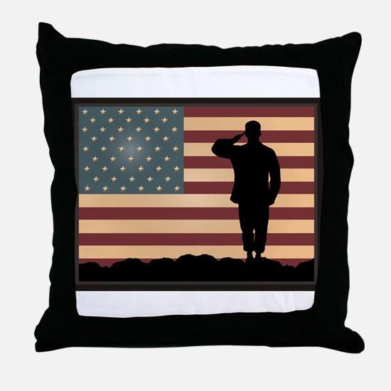 Rocky Salute Throw Pillow