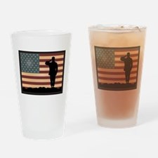 Rocky Salute Drinking Glass