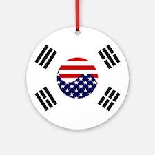 Korean-American Flag Ornament (Round)