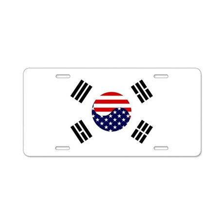 Korean-American Flag Aluminum License Plate