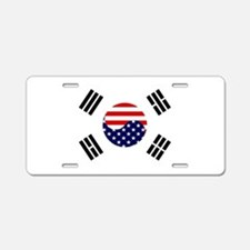 Korean-American Flag Aluminum License Plate