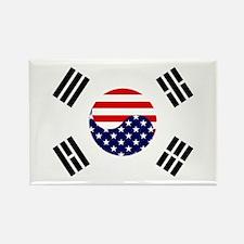 Korean-American Flag Rectangle Magnet