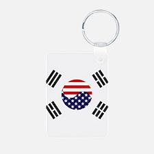 Korean-American Flag Keychains