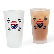 Korean-American Flag Drinking Glass