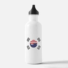 Korean-American Flag Sports Water Bottle
