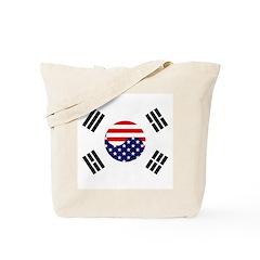 Korean-American Flag Tote Bag