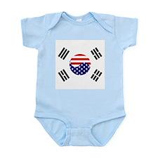 Korean-American Flag Infant Bodysuit