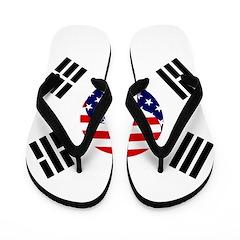 Korean-American Flag Flip Flops