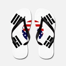 Korean-American Flag Flip Flops