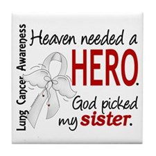 Heaven Needed a Hero Lung Cancer Tile Coaster