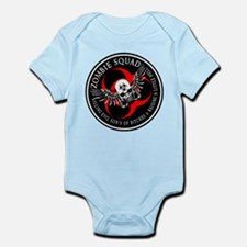 Zombie Squad 3 Ring Patch Rev Infant Bodysuit