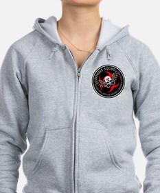 Zombie Squad 3 Ring Patch Rev Zip Hoodie