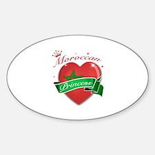Moroccan Princess Sticker (Oval)