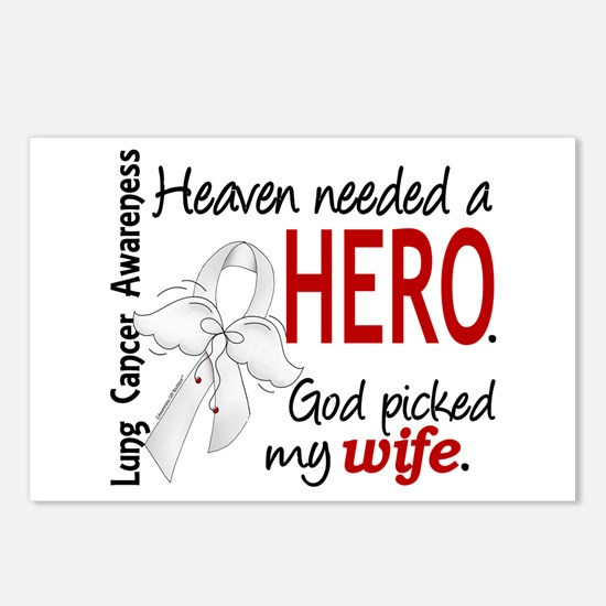 Heaven Needed a Hero Lung Cancer Postcards (Packag