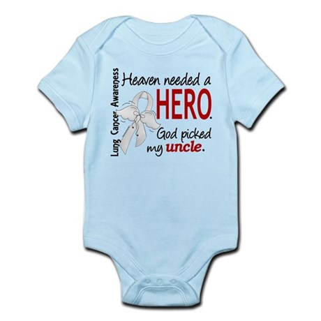 Heaven Needed a Hero Lung Cancer Infant Bodysuit