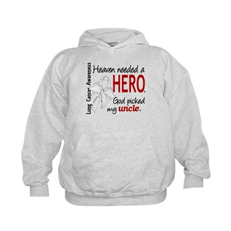 Heaven Needed a Hero Lung Cancer Kids Hoodie