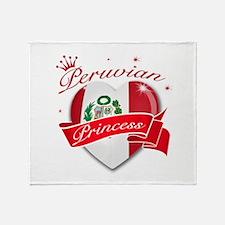 Peruvian Princess Throw Blanket