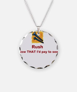 Screw Rush (red font) Necklace