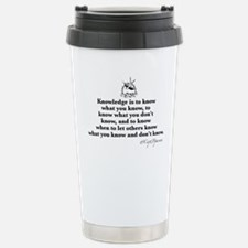 Knowledge Stainless Steel Travel Mug