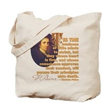 Whose Heart Is Firm Tote Bag