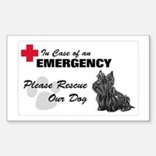 Please Rescue Scottie Rectangle Bumper Stickers