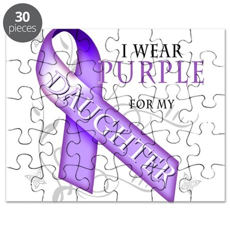 I Wear Purple for My Daughter Puzzle