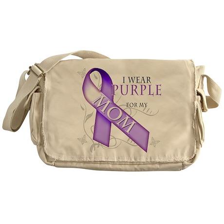 I Wear Purple for My Mom Messenger Bag