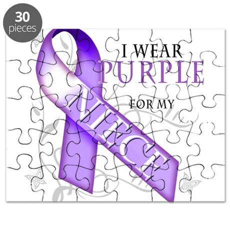 I Wear Purple for My Niece Puzzle