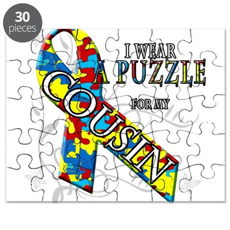 I Wear A Puzzle for my Cousin Puzzle