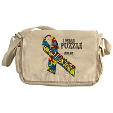 I Wear A Puzzle for my Cousin Messenger Bag