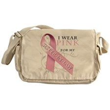 I Wear Pink for my Sister In Messenger Bag