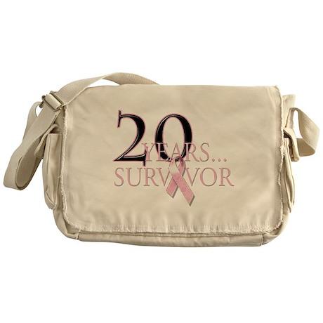20 Year Breast Cancer Survivo Messenger Bag