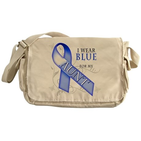 I Wear Blue for my Aunt Messenger Bag