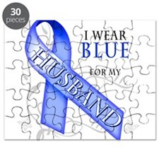 I Wear Blue for my Husband Puzzle