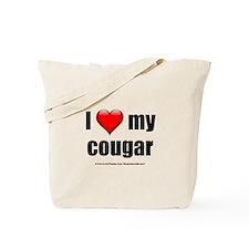 """""""I Love My Cougar"""" Tote Bag"""