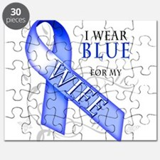 I Wear Blue for my Wife Puzzle