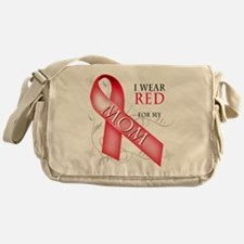 I Wear Red for my Mom Messenger Bag