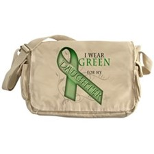 I Wear Green for my Daughter Messenger Bag