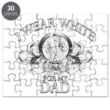 I Wear White for my Dad (flor Puzzle