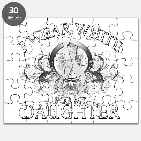 I Wear White for my Daughter Puzzle