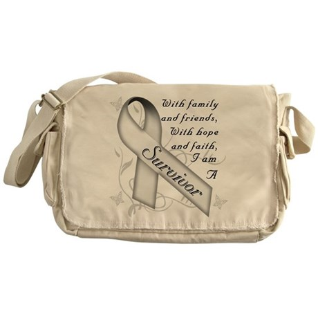 Lung Cancer Survivor Messenger Bag