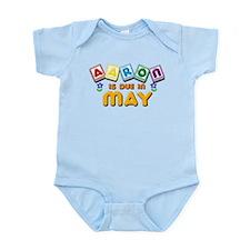 Aaron is Due in May Infant Bodysuit