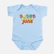 Aaron is Due in June Infant Bodysuit