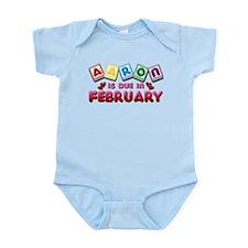 Aaron is Due in February Infant Bodysuit
