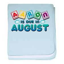 Aaron is Due in August baby blanket