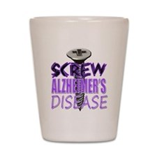Screw Alzheimer's Disease Shot Glass